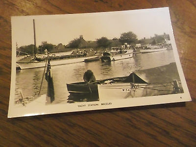 Beccles- Old Real Photo Postcard Of Yacht Station In Beccles Suffolk