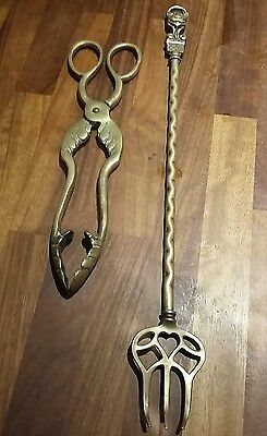 Vintage Brass Tongs & Toasting Fork