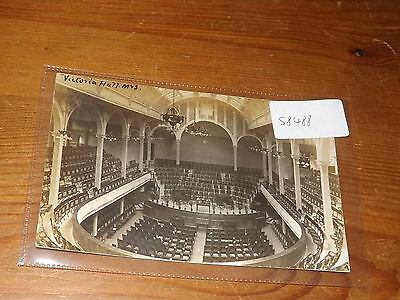Old  postcard our ref #58488 victoria hall sheffield 1908