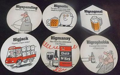 Collection of Higsons Brewery Liverpool Unused Beermats No 43-48 Higmany BM40