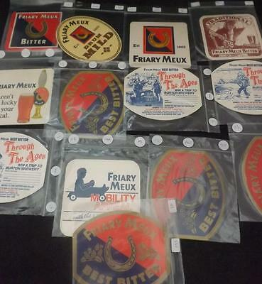 Collection of 13 Friary Meux Brewery Norfolk Unused Beermats  BM40