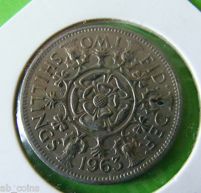 1963 Elizabeth II Two Shilling Or Florin Coin - Comes In A Coin Holder - #5656