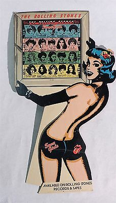 P014. Vintage THE ROLLING STONES SOME GIRLS Display Advertisement Sign (1978) }