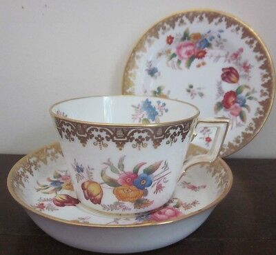 Antique 1860s COPELAND CHINA T. Goode AFTERNOON TEA cup, saucer & plate 5798