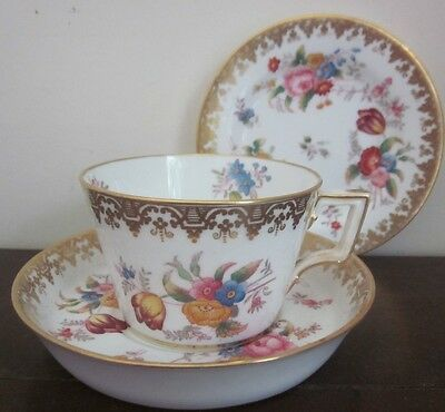 Antique 1890s COPELAND CHINA T. Goode AFTERNOON TEA cup, saucer & plate 5798