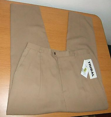 NWT TRIBAL Brown Pleated Dress Pants Size 18