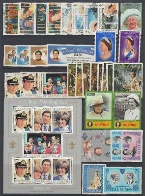 Royalty Mint And Used Lot (Id:r44395)
