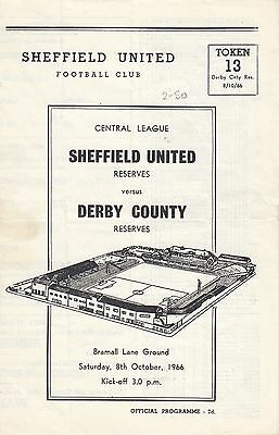 Sheffield United Reserves v Derby County Reserves 1966/7