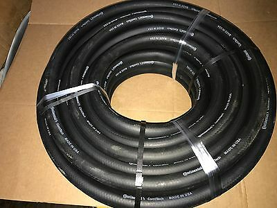 "Continental Water Hose 3/4"" X 90' Industrial Black Rubber 200Psi - Made In Usa"