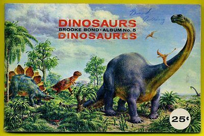 1963 Dinosaurs -Brooke Bond Tea Cards..canadian ..complete 48 Cards With Album