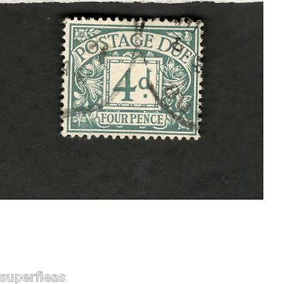 Great Britain SCOTT #J6 Postage Due  Four Pence  Θ used stamp