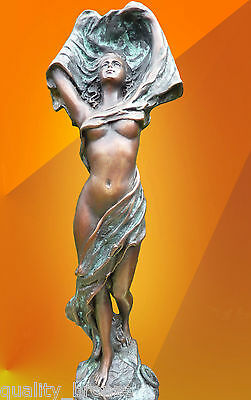 Bronze Statue, Nouveau Dancer Nude Figure Hot Cast Figurine Bronze Sculpture