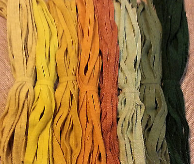 CITRUS ORCHARD  200 Hand and Mill dyed  #8 Rug Hooking Wool Strips