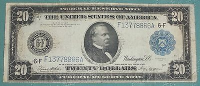 1914 Large $20 Federal Reserve Note - Blue Seal