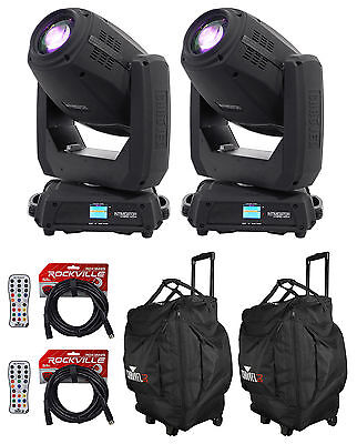 (2) Chauvet DJ Intimidator Hybrid 140SR Moving Head Lights+Bags+Remotes+Cables