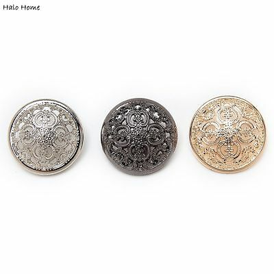 5pcs Hollow Metal Buttons Round Coat Clothing Repair Sewing Decor Replace