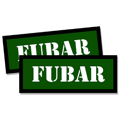"FUBAR Ammo Label Decals Ammunition Case 3/"" x 1/"" Can stickers 4 PACK YWbkRD"
