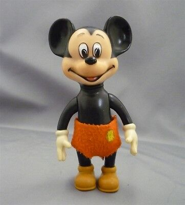"""VINTAGE Plastic 8"""" Tall Walt Disney Productions Mickey Mouse Squeeky Doll Japan"""