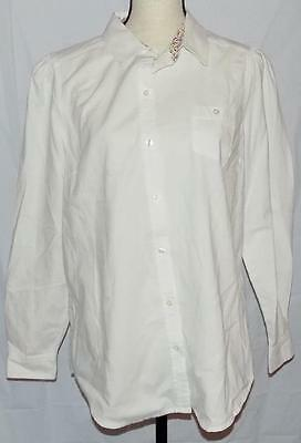 Women's Old Navy Long sleeve button down shirt Blouse Large white