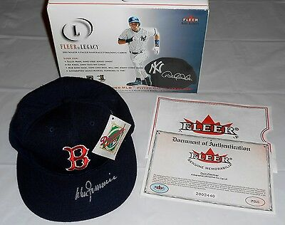Signed Autographed Don Zimmer Red Sox Cap Hat By Fleer Legacy - New W/ Box & COA