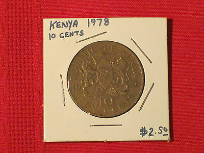 *** 1971  10 Cents coin / Kenya - KM# 11  Good example.