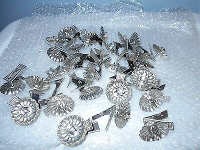 Set 30 vintage tin clip on  Clip-On Christmas Tree Candle Holders