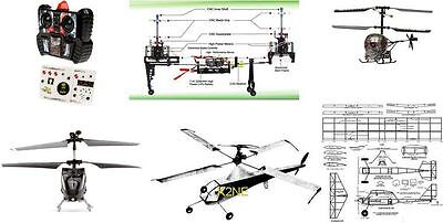 15 Free Flight And Rc Helicopters To Build: Plans On Cd - K2Ne Web Store