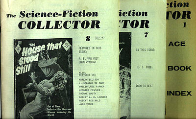 70's SCIENCE-FICTION COLLECTOR #1 Ace Book Index #7 E.C. TUBB & #8 A.E. VAN VOGT