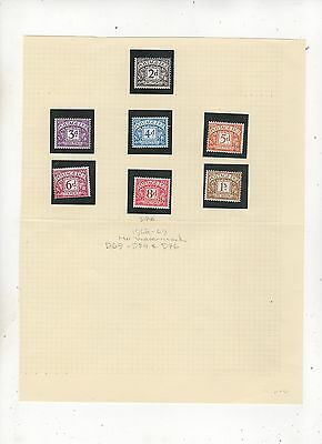 Lot of GB Postage Due Stamps 2d to 1/- 1968-69 No Watermark 397b