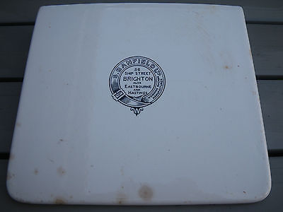 Antique Large Decorative Ceramic Scale Pan~S.banfield 56 Ship Street Brighton