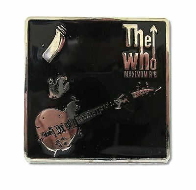The Who! Maximum R&b Pete Image Metal Belt Buckle New