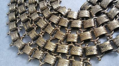 "46"" Antique Victorian Fancy Gold Filled 12mm Book Chain"