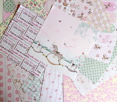 """16 SHEETS 6x6"""" SCRAPBOOK PAPER - IT'S A GIRL by First Edition PAPERS baby"""
