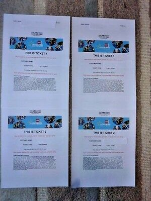 LEGOLAND Windsor 2 x Tickets Easter Weekend Saturday 15th April