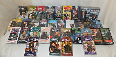 Job Lot 30 Mixed VHS Video CASSETTE Tapes TV Box Sets DRAMA Taggart SHARPE Mixed
