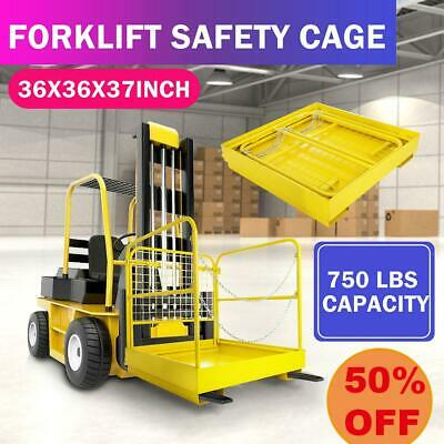 Forklift Safety Cage Work Platform Collapsible Lift Basket Aerial Rail Fence Kit
