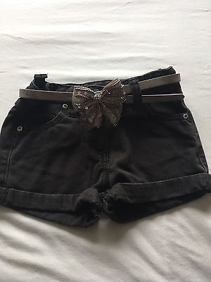 Girls Age 4 Denim Shorts With Belt From Next