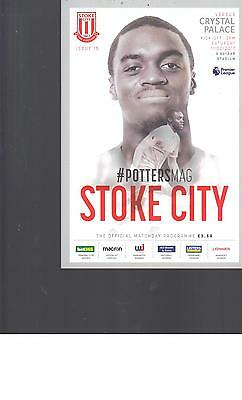 PROGRAMME - STOKE CITY v CRYSTAL PALACE - 11 FEBRUARY 2017