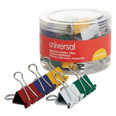 """Universal Office Products 31029 Medium Binder Clips, 5/8"""" Capacity, 1 1/4"""" Wide,"""
