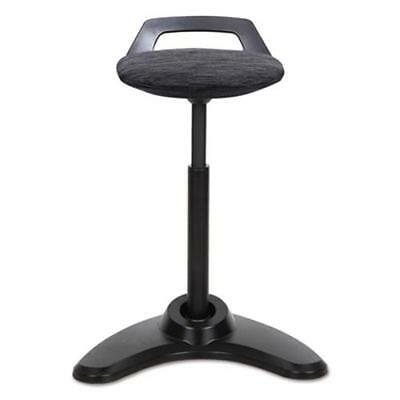 Alera AE35PSBK Sit To Stand Perch Stool, Black With Black Base