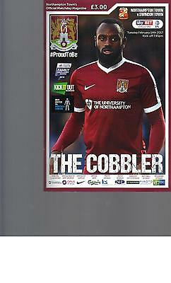PROGRAMME - NORTHAMPTON TOWN v SWINDON TOWN - 14 FEBRUARY 2017