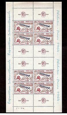 France 1964 # 1100 Sheet Of 8 Philatec Exhibition Mint Vf Nh !!