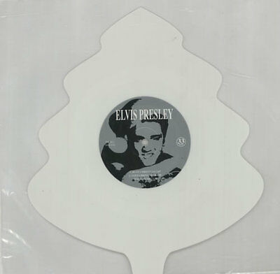 Elvis Presley Blue Christmas - White vinyl shaped picture disc vinyl record UK