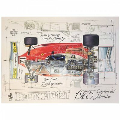Diagram of a Ferrari 312T 1975  Print by Sebastien Sauvadet