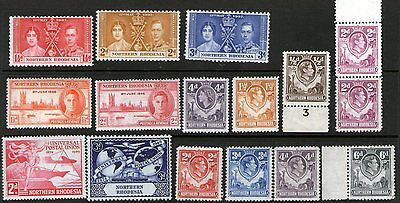 Northern Rhodesia GVI selection to 6d mint