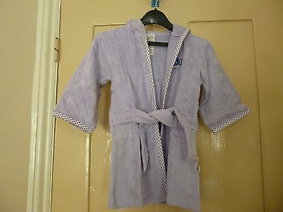 Baby's towelling cuddle bath robe - lilac - age 0 - 12 mths - new
