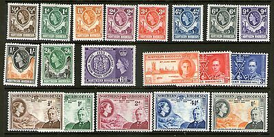 Northern Rhodesia 1953 issue to 2/6 mint