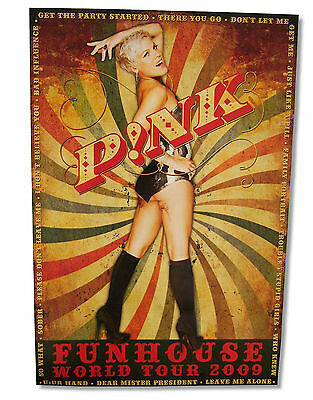 Pink P!nk - Funhouse Tour 2009 Swirl Glossy Wall Poster 24X35 New Music Singer
