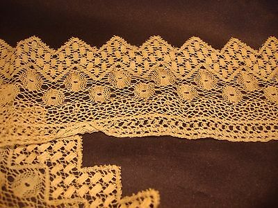 """Antique Victorian Off White Lace Trim 3"""" by 26"""" Good Condition"""