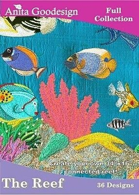 The Reef Anita Goodesign Embroidery Design CD